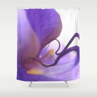 orchid Shower Curtains featuring Orchid  by Lena Weiss