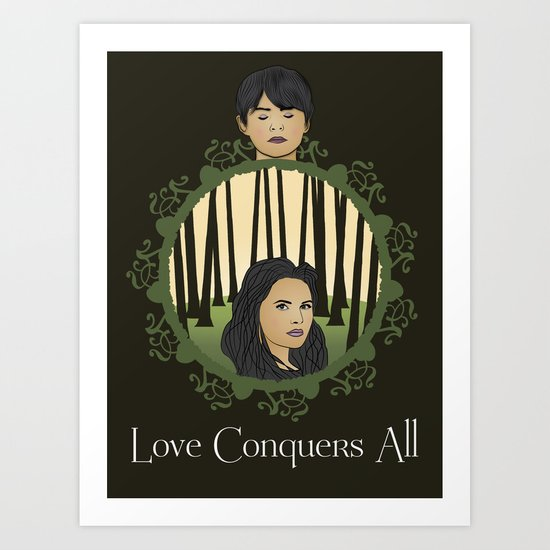 Once Upon A Time - Two Halves, One Whole Art Print