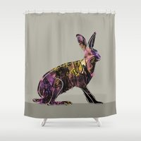 hare Shower Curtains featuring Hare by MACACOSS