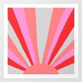 sunshine state, coral Art Print