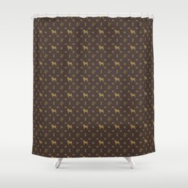 Louis Pug Face Luxury Dog Pattern Shower Curtain