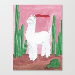 Cool Lama Canvas Print