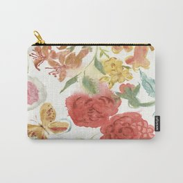 Dahlias and Floral Snippets Carry-All Pouch