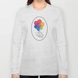 Soar - Rainbow Balloon Hedgehog Long Sleeve T-shirt