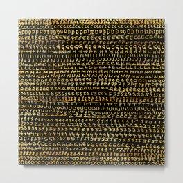 gold alphabet Metal Print