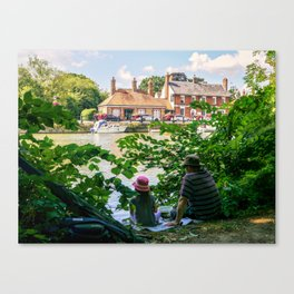 Gone fishing. Canvas Print