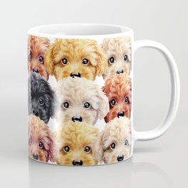 Toy poodle everywhere with friends Coffee Mug