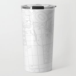 Abstract Map of UC Berkeley Campus Travel Mug
