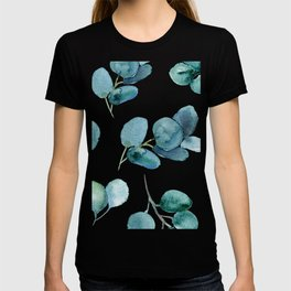 Silver Dollar Watercolor Leaves T-shirt
