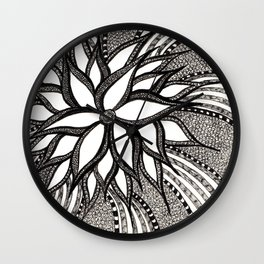 Doodle Flora Wall Clock