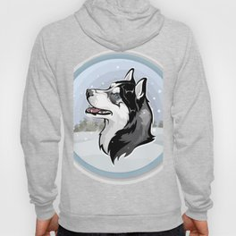 dog in snow Hoody