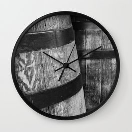 Wine Barrels in San Luis Obispo Wall Clock