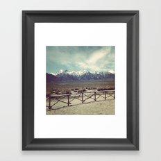 Eastern Sierras from Manzanar Framed Art Print