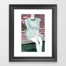 Sitting Girl Framed Art Print