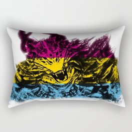 Pansexual Pride Demon Rectangular Pillow