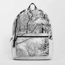 New York City Winter Trees in Snow Backpack