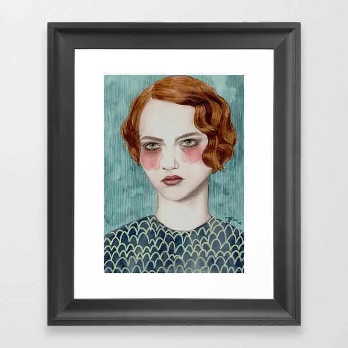 Sasha Gerahmter Kunstdruck