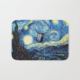 Tardis Starry Night Art Painting Bath Mat