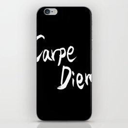 Carpe Diem White character iPhone Skin