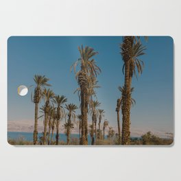 Palm trees in the Negev Desert, Israel Cutting Board
