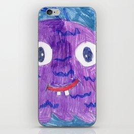 Purple Alien iPhone Skin