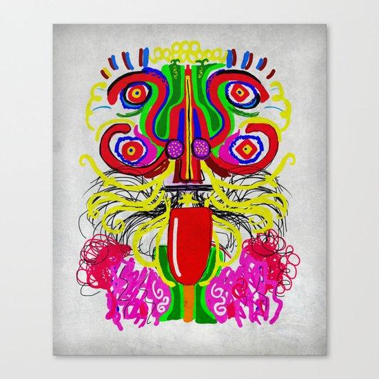 Maya lion Canvas Print