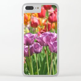 Bouquet of Tulips Clear iPhone Case
