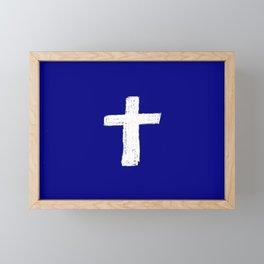 Christian Cross Chalk version Framed Mini Art Print