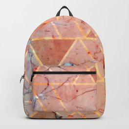 Peachy marble (please forget) Backpack