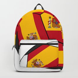 Soccer ball with Spanish flag Backpack