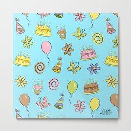 """Birthday"" (Blue) Metal Print"