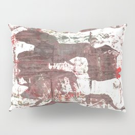 Deep Taupe abstract watercolor Pillow Sham