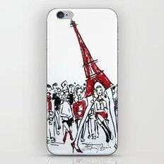 A Paris Runway Fashion Illustration iPhone & iPod Skin