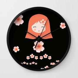 Deconstructed Flower Girl Wall Clock