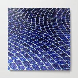 Blue Brick Road Metal Print