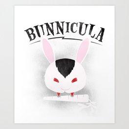 Vampire bunny Art Print