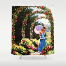 Alley of roses Shower Curtain