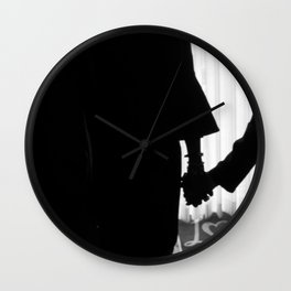 Couple Holding Hands Wall Clock
