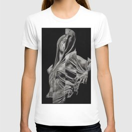 'Veiled Modesty' Contemporary Portrait by Jeanpaul Ferro T-shirt