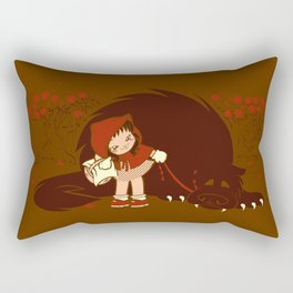 Bossy Red Riding Hood Rectangular Pillow
