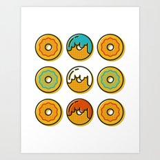 Donuts. Art Print