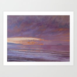 New Year's Day Sunset Art Print