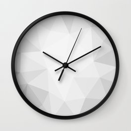 low polygon gray background Wall Clock