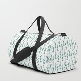 Eucalyptus leaves / modern botanical watercolor illustration on white Duffle Bag
