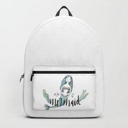 Art sleeping mermaid Backpack