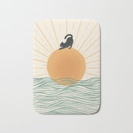 Good Morning Meow 7 Sunny Day Ocean  Bath Mat