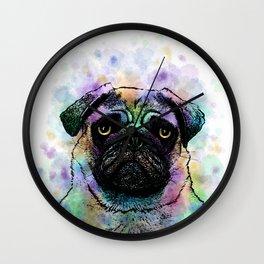 Funny Pug Dog 156 Wall Clock