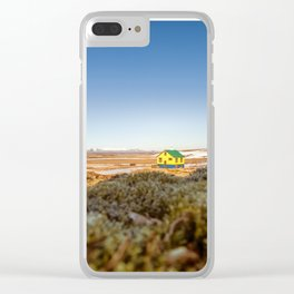 Iceland middle of nowhere Clear iPhone Case