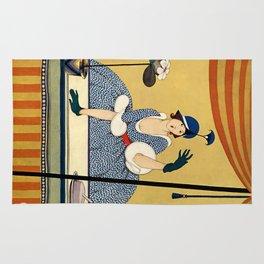 "George Wolfe Plank Art Deco Design ""Hat Shop"" Rug"