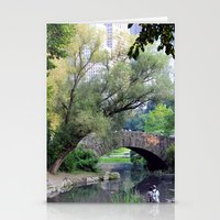 central park Stationery Cards featuring Central Park by Elizabeth Chung